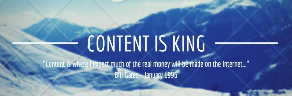 el contenido es el rey Bill Gates