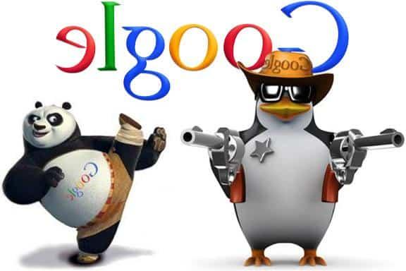 panda y pingüino google